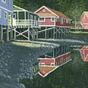 Morning At Telegraph Cove Art Print