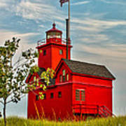 Morning At The Big Red Lighthouse Art Print