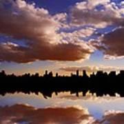 Morning At The Reservoir New York City Usa Art Print
