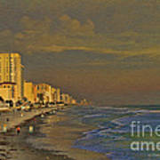 Morning Beach Walk Art Print