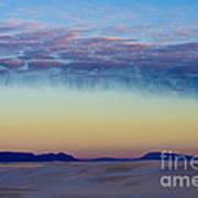 Morning Begins In White Sands Art Print by Sandra Bronstein