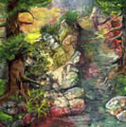 Morning Forest Hike Art Print