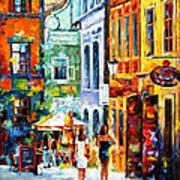 Morning Gossip - Palette Knife Oil Painting On Canvas By Leonid Afremov Art Print