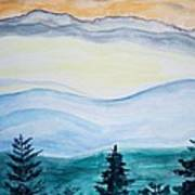 Morning Hills Art Print