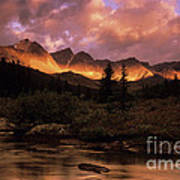 Morning Light Maligne Pass Art Print