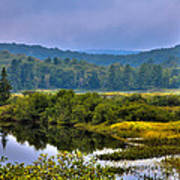 Morning Mist On The Moose River Print by David Patterson