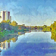 Towers On The Olentangy. The Ohio State University Art Print