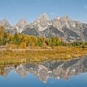 Morning Reflection Of The Teton Range Art Print