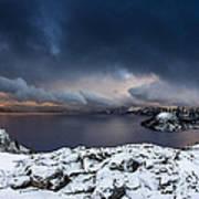 Morning Storm At Crater Lake Art Print