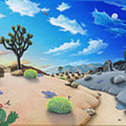 Joshua Tree Morning To Night Art Print