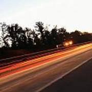 Morning Traffic On Highway Art Print