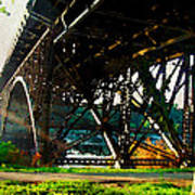 Morning Under The Bridge Art Print