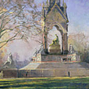 Morning Visitors To The Albert Memorial Oil On Canvas Art Print