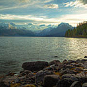 Mornings At Lake Mcdonald Art Print by Stuart Deacon