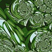 Moroccan Lights - Green Art Print