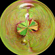 Morphed Art Globe 21 Art Print