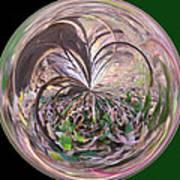 Morphed Art Globe 36 Art Print by Rhonda Barrett