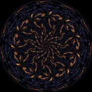 Morphed Art Globes 14 Art Print by Rhonda Barrett