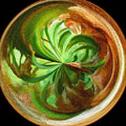 Morphed Art Globes 16 Print by Rhonda Barrett