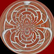 Morphed Art Globes 17 Art Print by Rhonda Barrett
