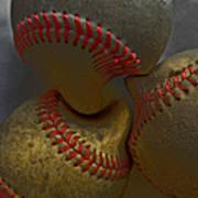 Morphing Baseballs Art Print by Bill Owen
