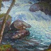 Morraine Ck. Fiordland Nz. Art Print