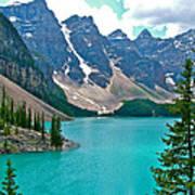 Morraine Lake In Banff Np-alberta Art Print