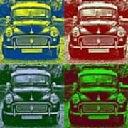 Morris Car In Pop Art Art Print
