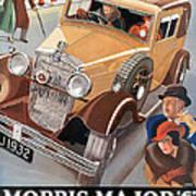 Morris Major 6 - Vintage Car Poster Art Print