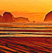 Morro Rock Painting Art Print