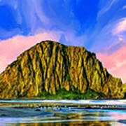 Morro Rock Sunset Art Print