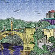 Morstar Bridge Colored Art Print