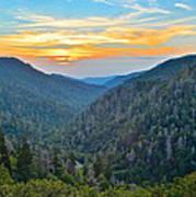 Mortons Overlook Smoky Mountain Sunset Art Print