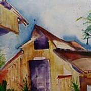 Mo's Barn Art Print