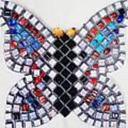 Mosaic Butterfly Art Print by Lisa Brandel
