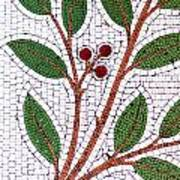 Mosaic Picture Of Tree Branch  Art Print