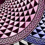 Mosaic Quarter Circle Bottom Right  Art Print