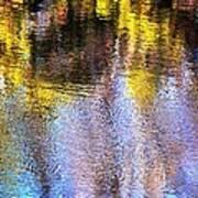 Mosaic Reflection At The River Art Print