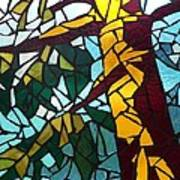 Mosaic Stained Glass - First Tree Art Print by Catherine Van Der Woerd