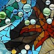 Mosaic Stained Glass - Low Tide Art Print