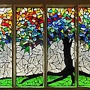 Mosaic Stained Glass - Roots Art Print