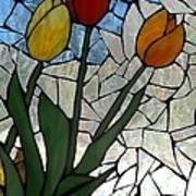 Mosaic Stained Glass - Spring Shower Art Print