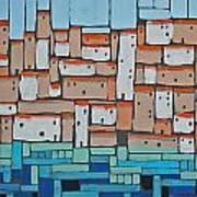 Mosaic Village 2 Art Print