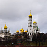 Moscow Kremlin Cathedrals - Square Art Print