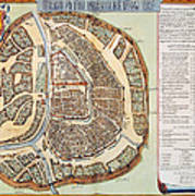 Moscow: Map, 1662 Art Print