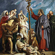 Moses And The Brazen Serpent Art Print