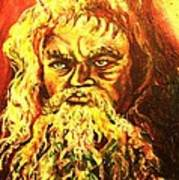 Moses At The Burning Bush Art Print