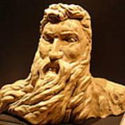 Moses Michelangelo  Art Print by Joseph Hawkins