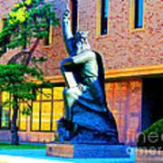Moses Statue At The Main Library Art Print