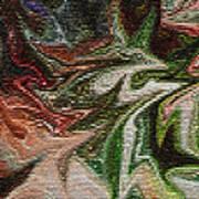Mosiac Leaves Art Print